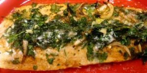 Salmon with Lemony Parsley Butter - The Levantess
