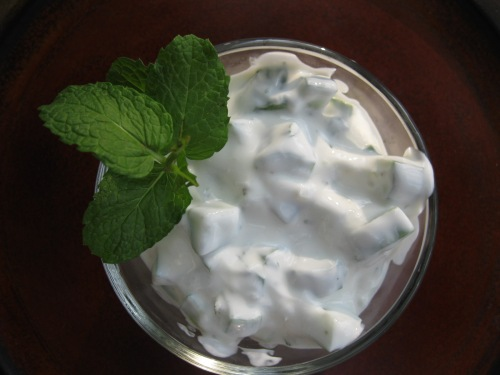 Minted Cucumber Yogurt Salad- Khiar biLaban | The Levantess